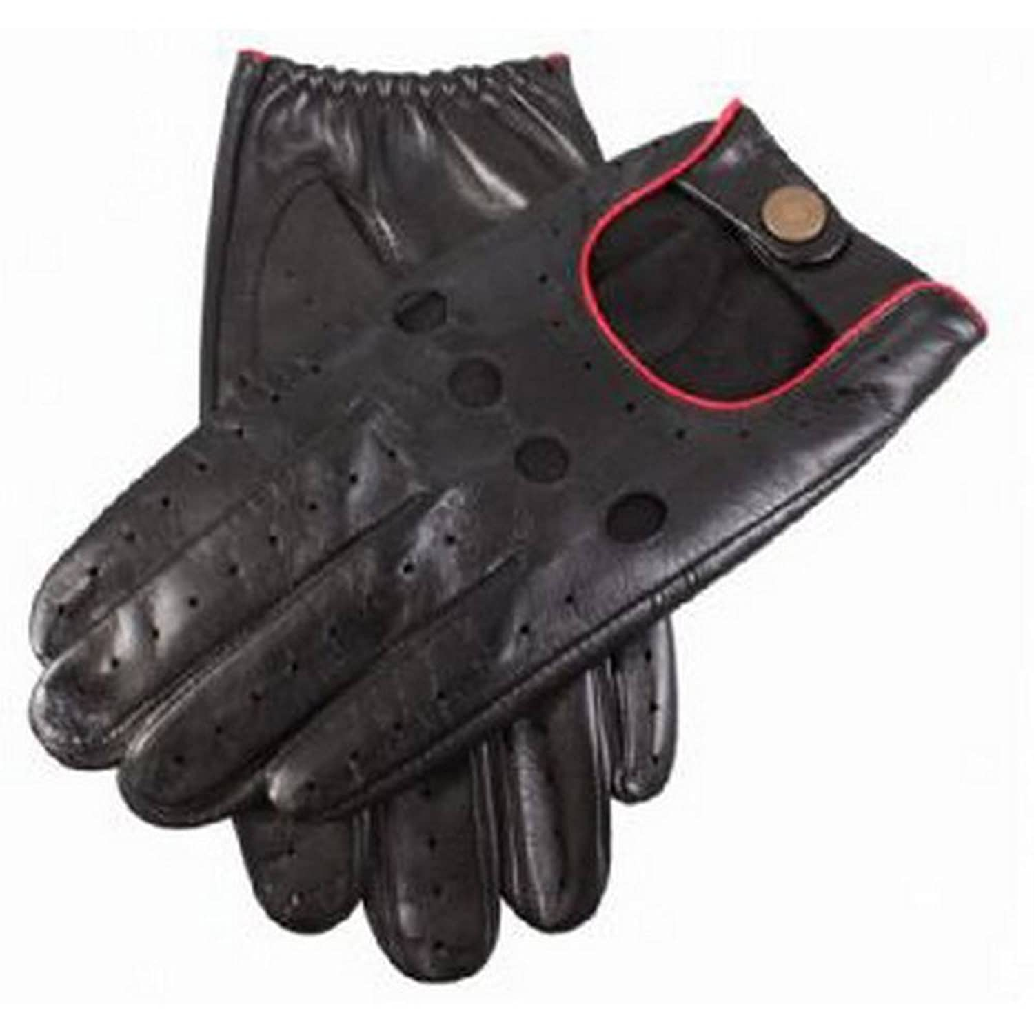 Red leather driving gloves mens - Amazon Com Black And Red Delta Leather Driving Gloves By Dents 7 8 Dents Clothing