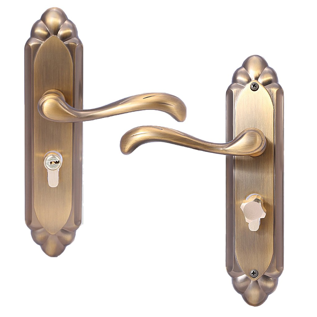Dovewill Aluminum Door Lock Privacy Entry High Security Safe knobs Handles Retro Brass Hardware