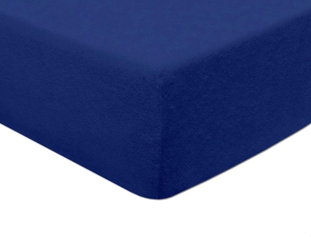 Sábana bajera Modhaus, de rizo, 80x 160 cm, congoma elástica para ajustarla a colchones de hasta 5cm de altura. Disponible en distintos colores
