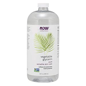 NOW Solutions, Vegetable Glycerin, 100% Pure, Versatile Skin Care, Softening and Moisturizing, 32-Ounce