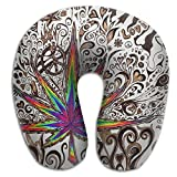 Cannabis Leaf Support Neck Pillow Spa Memory Foam U-SHAPE Travelrest People
