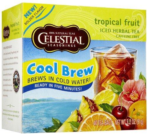 Celestial Seasonings Cool Brew Tropical Fruit Ice Tea, 40-count (Pack of6)