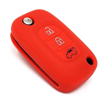 con 2 pulsanti Finest-Folia Custodia per le chiavi dell/'auto in silicone Nero