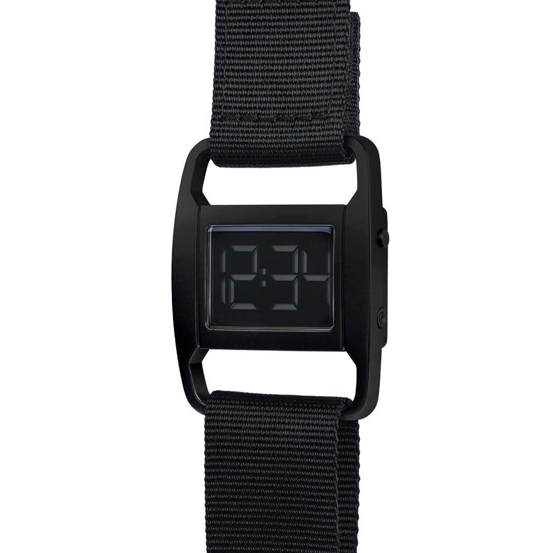 PXR-5 - Digitaluhr von Michael Young fÜr VOID - Style: Matt Schwarz & Schwarzes Nylon Armband