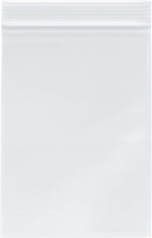 Plymor Zipper Reclosable Plastic Bags, 2 Mil, 5