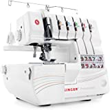SINGER | Professional 14T968DC Serger Overlock with 2-3-4-5 Stitch Capability, 1300 Stitches per minute, & Self Adjusting - S