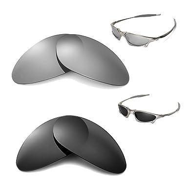 walleva polarizadas titanio + negro lentes para Oakley Penny