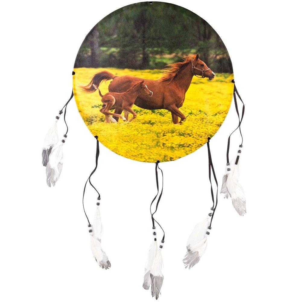 Animal World - Horses Running Side Profile Dream Catcher - Multi