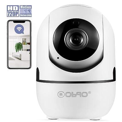 Cámara de Vigilancia WiFi Interior Inalámbrico, Cámara IP HD P2P con Micrófono y Altavoz,