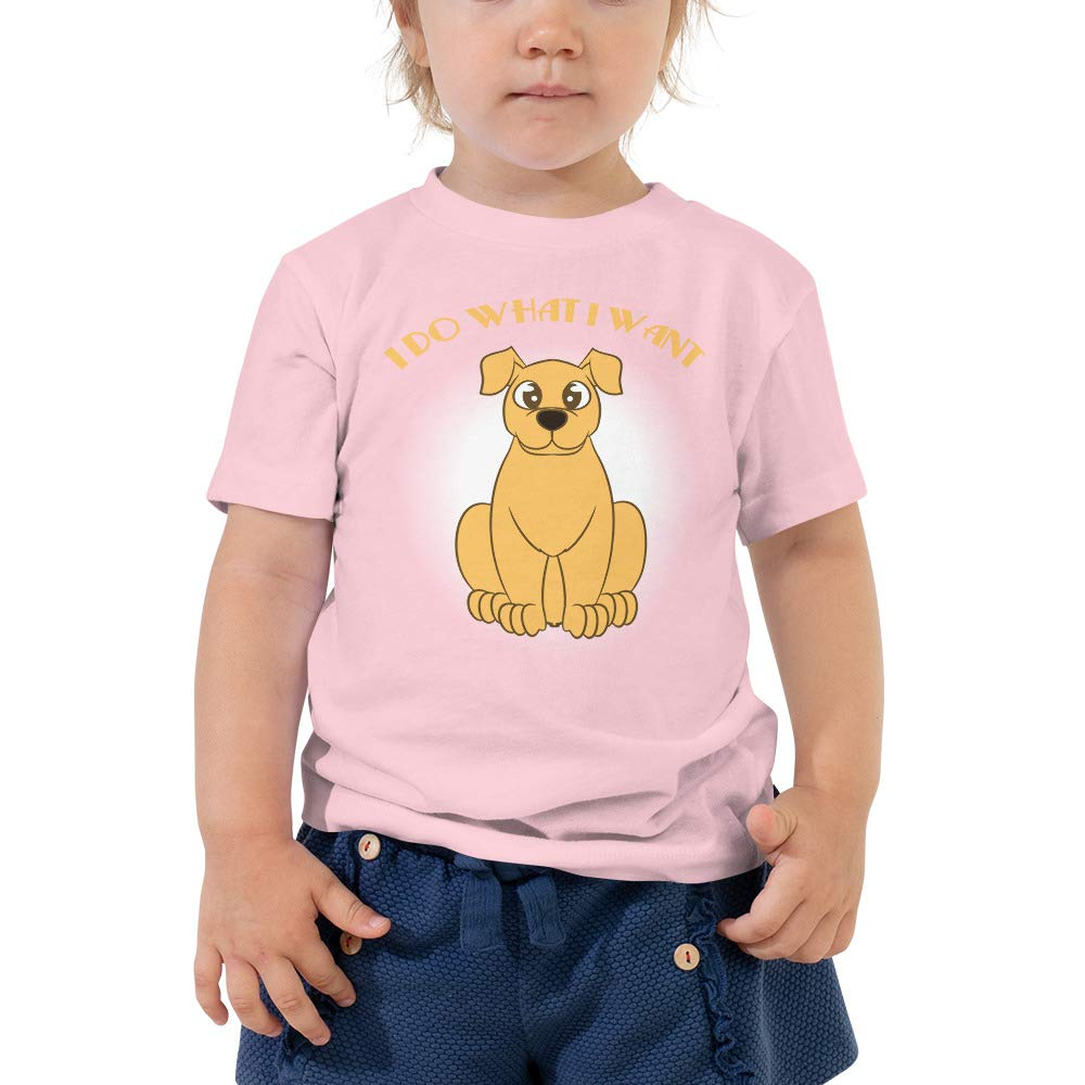 Dog Lover Gifts for Toddler I Do What I Want Dog Toddler Shirt