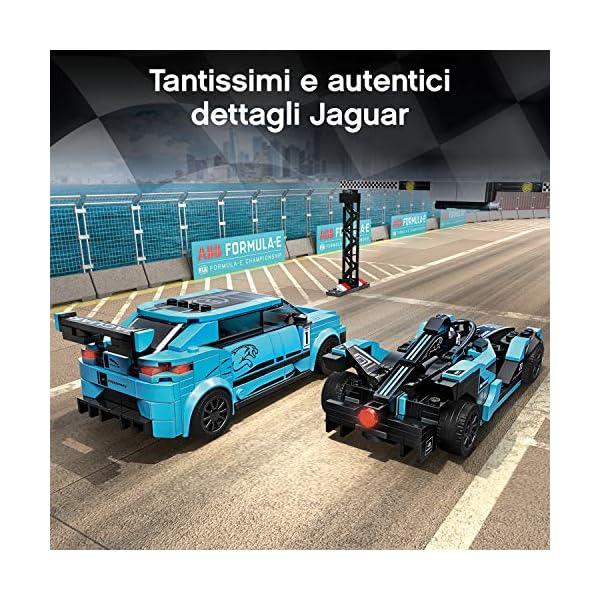LEGO Speed Champions - Panasonic Jaguar Racing GEN2 e Jaguar I-PACE eTROPHY Modelli che Corrono in Formula E con 2… 6 spesavip