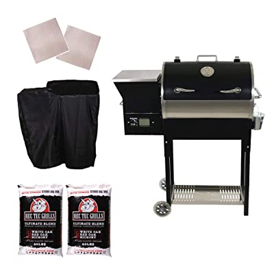 Rec Teq Grills | RT-340 | Bundle | WiFi Enabled | Portable Wood Pellet Grill | Built in Meat Probes | Stainless Steel | 20lb Hopper | 2 Year Warranty | Hotflash Ceramic Ignition System