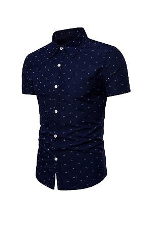 Blusa de Manga Corta para Hombre, diseño Casual con Estampado de ...