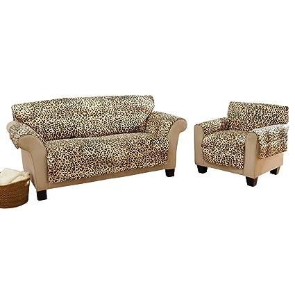Leopard Animal Print Furniture Slip Cover, Leopard, Sofa
