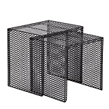 Joveco Modern Designed Accent Metal Nesting Stackable End Table Set of 2