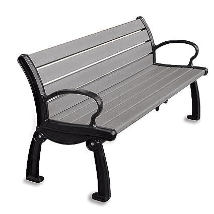 Astonishing Amazon Com Jayhawk Plastics Heritage Outdoor Bench 8 Ocoug Best Dining Table And Chair Ideas Images Ocougorg