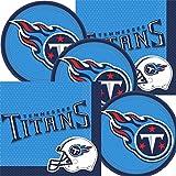 Tennessee Titans NFL Football Team Logo Plates And Napkins Serves 16 b12c9d408