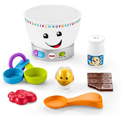 Fisher-Price Laugh & Learn Magic Color Mixing Bowl, Musical Baby Toy: Toys & Games [5Bkhe0300326]