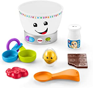 Fisher-Price Laugh & Learn Magic Color Mixing Bowl, Musical Baby Toy,Multi