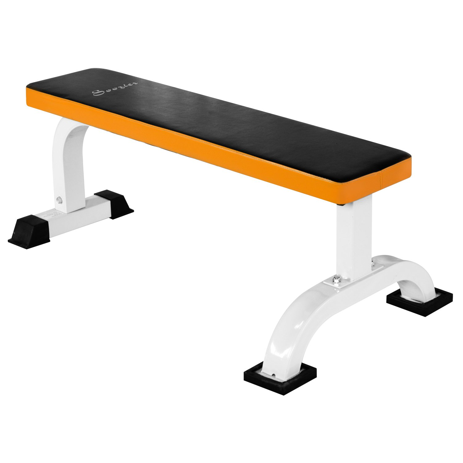 Peachy Homcom Barbell Flat Bench Press Dumbbell Weight Lifting Fitness Abs Workout Gym Bench Black Orange Alphanode Cool Chair Designs And Ideas Alphanodeonline