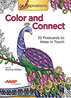Inkspirations Color And Connect 32 Postcards To Keep In Touch