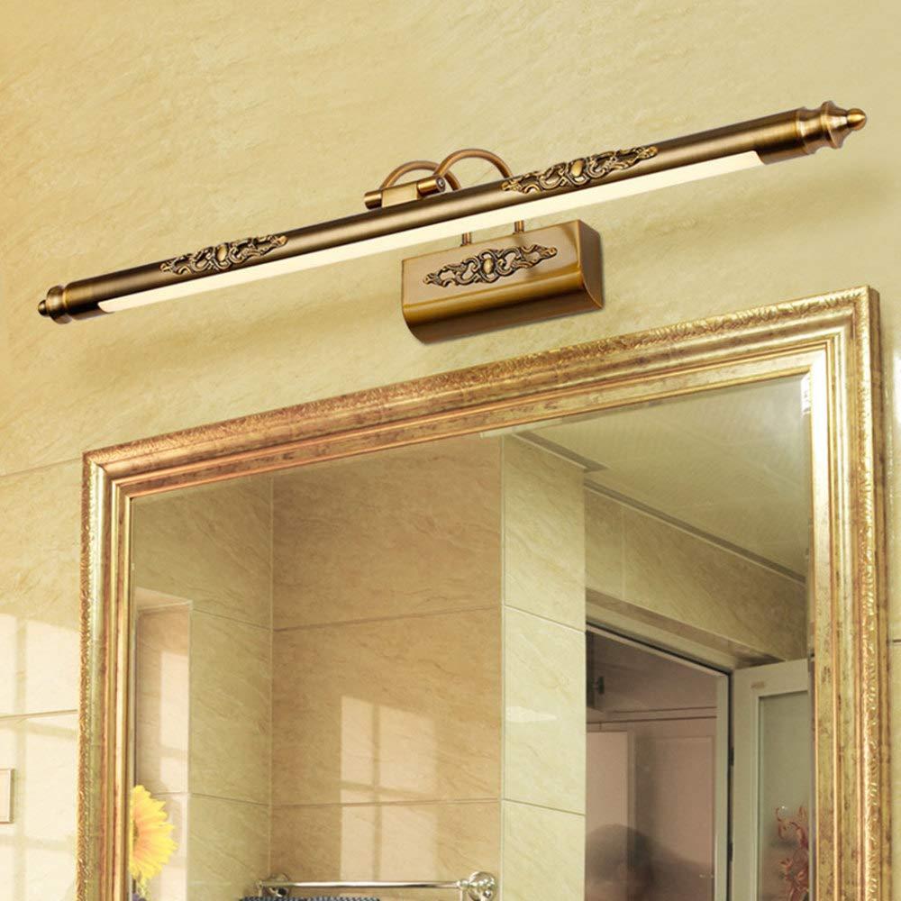 FAFY Kosmetikspiegel Lampe LED Europäische Make-up Licht Eitelkeit Badezimmer Wandleuchten Bronze Kabinett Beleuchtung Dekoration,Warmlight-19.68in