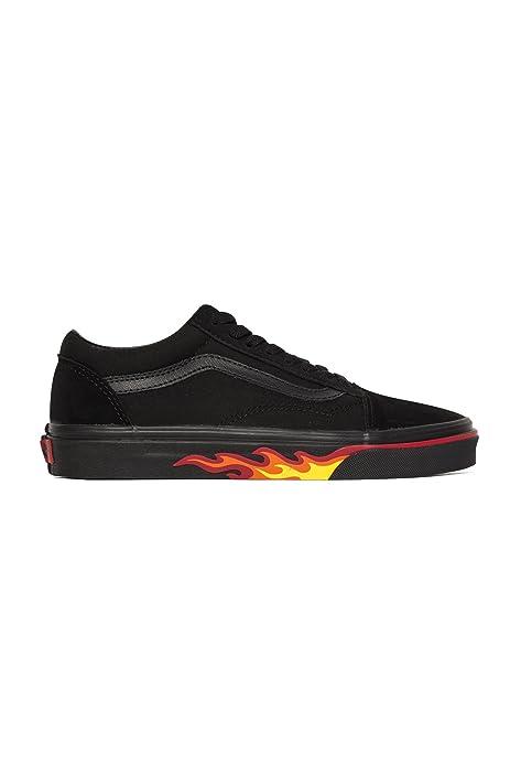 Vans Old Skool Flame Walle Sneaker VA38G1Q8Q Black Flame