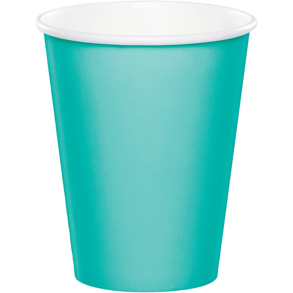 Creative Converting 324783 Touch of Color 240 Count 9 oz Hot/Cold Paper Cups, Teal Lagoon by Creative Converting