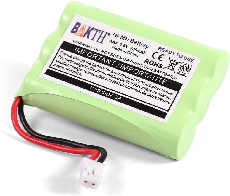 BAKTH 900mAh 3.6V NI-MH Batería de Repuesto para Motorola MBP27T MBP33 MBP33PU MBP33BU MBP33P MBP36 MBP36PU MBP35 MBP41 MBP43 MBP18 CB94-01A Baby Monitor (no es Compatible con MBP33S y MBP36S)