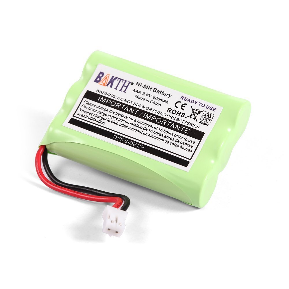 BAKTH 900mAh 3.6V NI-MH Replacement Battery for Motorola MBP27T MBP33 MBP33S MBP33PU MBP33BU MBP33P MBP36 MBP36S MBP36PU MBP35 MBP41 MBP43 MBP18 CB94-01A Baby Monitor BAKTH-NH-3.6-900-2J