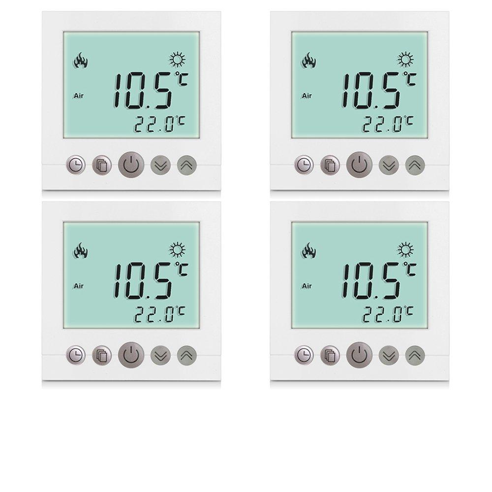 4x Excelvan® Thermostat Heizung Raumthermostat Programmierbar ...
