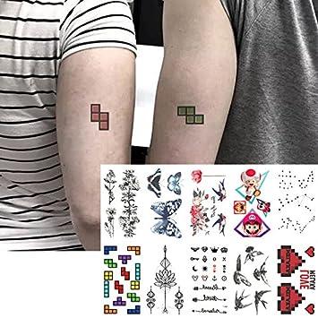 Oottati 10 Hojas Pequeñas Cute Dedo Tatuajes Temporales Mariposa ...