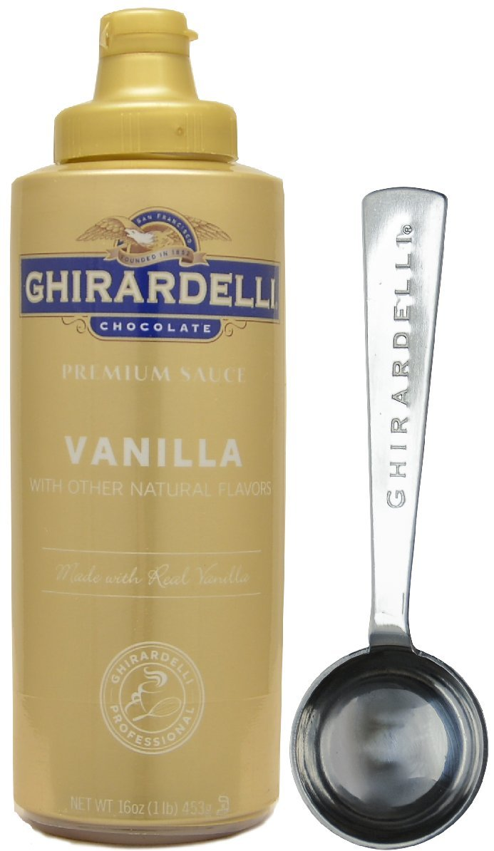 Ghirardelli - Vanilla Sauce, 16 Ounce Squeeze Bottle - with Limited Edition Measuring Spoon
