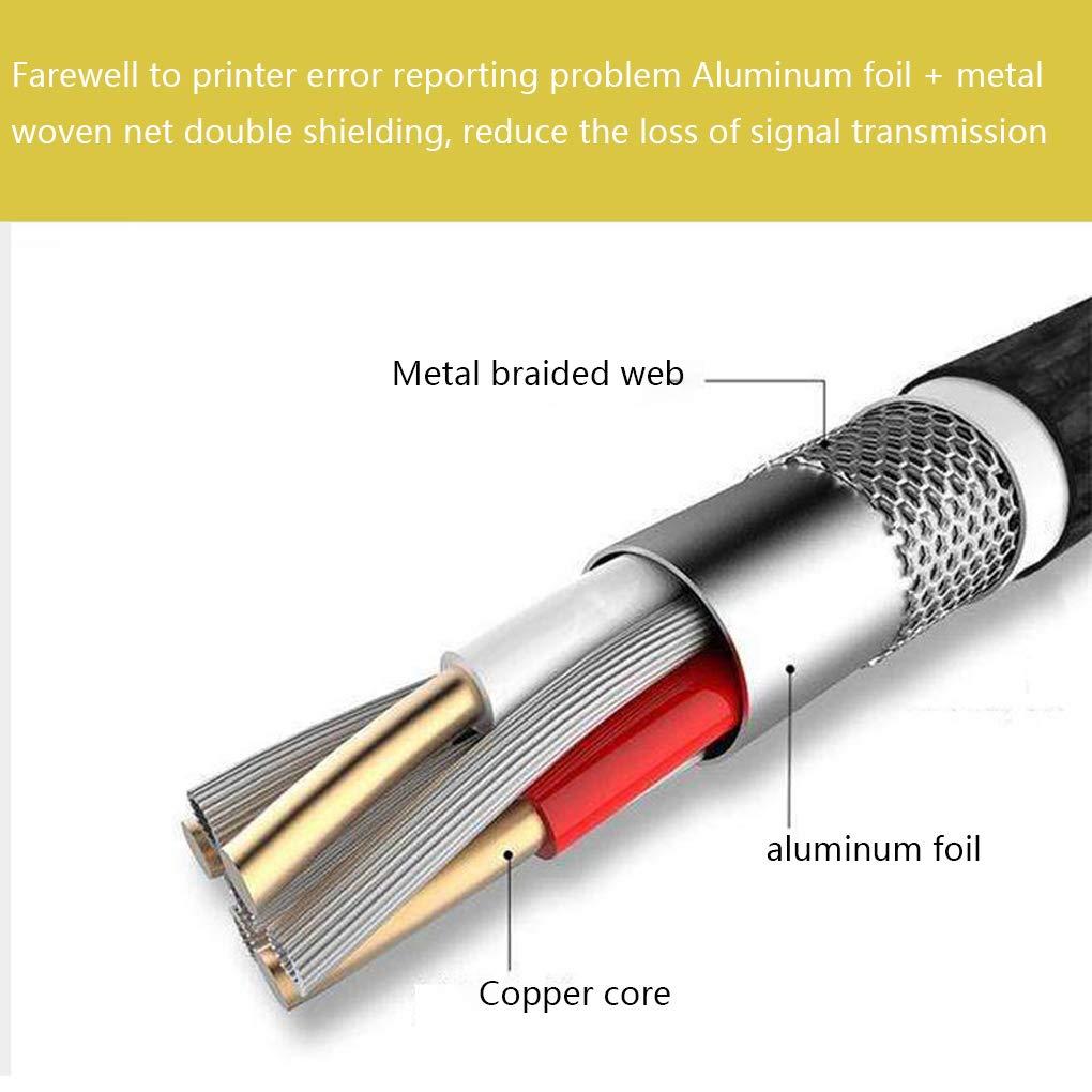 Zerama 1,5M Cable de Impresora USB 2.0 Negro Cable Plaza 480Mbps Boca Llena n/úcleo de Cobre del Cable de Datos del esc/áner