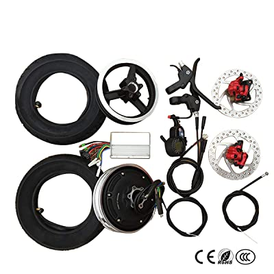 Electric Bike Conversion kit 10 inch Electric Hub Motor Wheel 36V 48V Scooter Wheel Motor Accessories Brushless Motor high Speed : Sports & Outdoors
