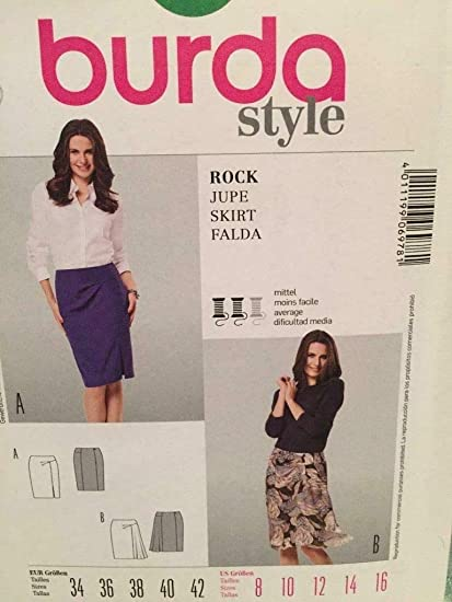 7a1c9b8bc7 Amazon.com: Burda Style Sewing Pattern 6978 - Misses' Skirt, Fitted Size  (8-10-12-14-16): Arts, Crafts & Sewing