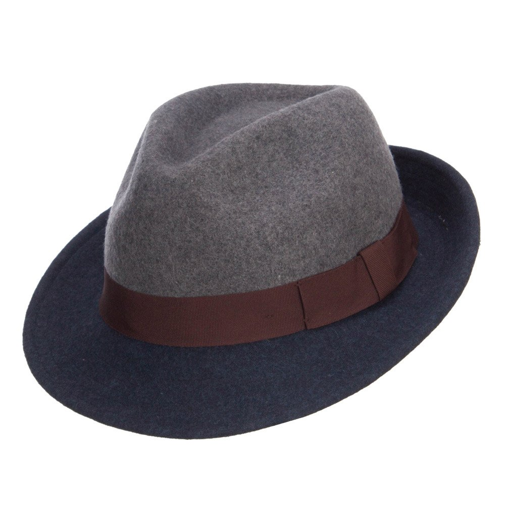 Jeanne Simmons Mens Wool Two Toned Fedora