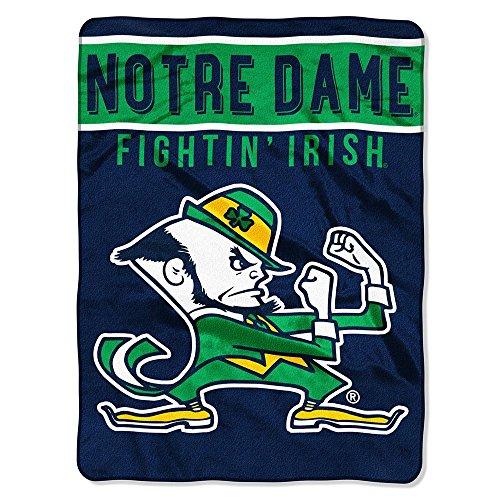 Northwest Notre Dame Fighting Irish Ncaa Royal Plush Raschel Blanket (basic Series) (60x80) (Fleece Blanket Throw Series)
