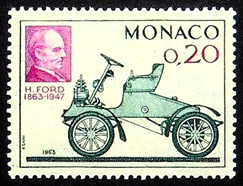 Henry Ford 1863-1947 -Handmade Framed Postage Stamp Art 21386AM