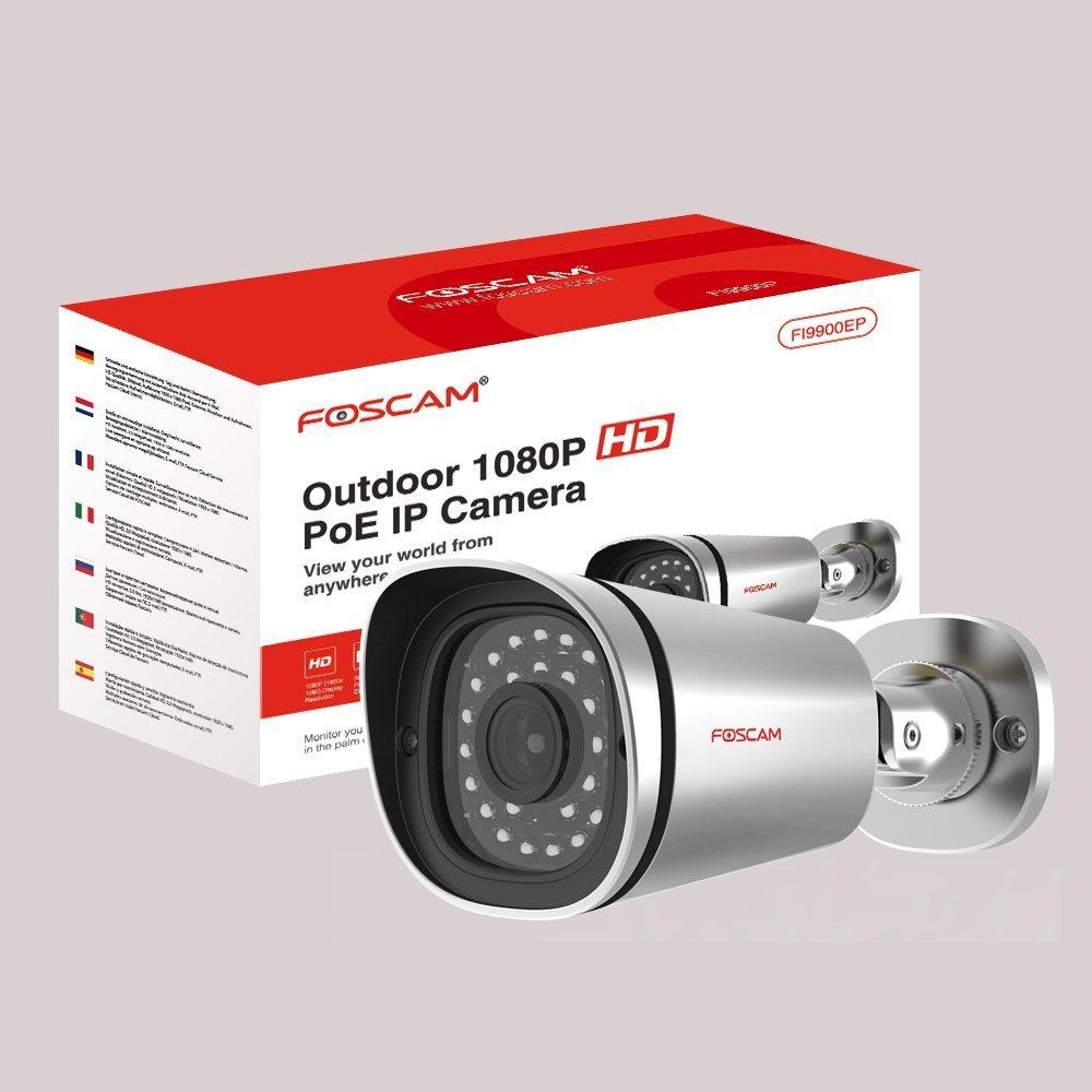 Foscam FI9901EP BulletCamera 4Mp 1080P POE IP66 Cámara de seguridad IP Interior y exterior Bala 2560 x 1440Pixeles - Cámara de vigilancia (Cámara de ...
