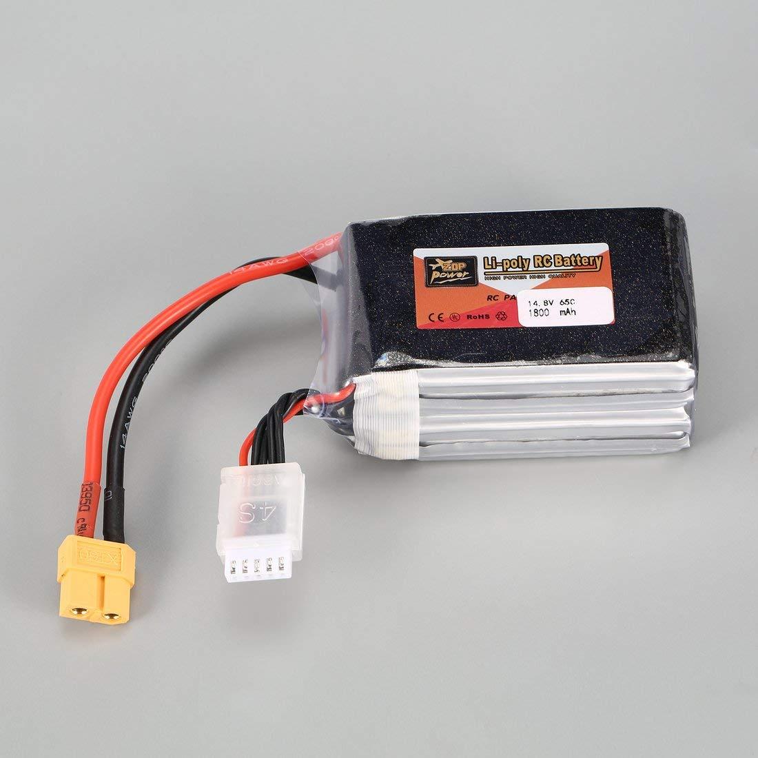 Dilwe Bater/ía RC LiPo 7.4V 5200mAh 25C T Enchufe Bater/ía Recargable de Litio LiPo para Modelos RC Coche Avi/ón Barco
