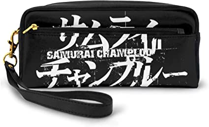 Samurai Champloo - Estuche de maquillaje para mujer, diseño de perezoso, color negro talla única: Amazon.es: Oficina y papelería