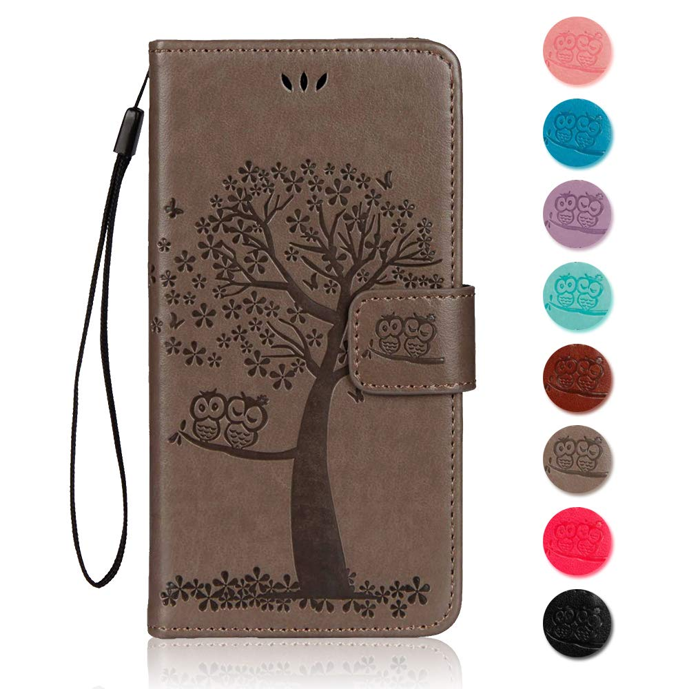 Green Flip Stand Function Protective Cover with Card Slots for Samsung Galaxy J3 2018 The Grafu/® Butterfly Embossing PU Leather Shockproof Stand Case Galaxy J3 2018 Case