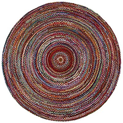 Brilliant Ribbon Multi Colored (3'x3') Round Rug