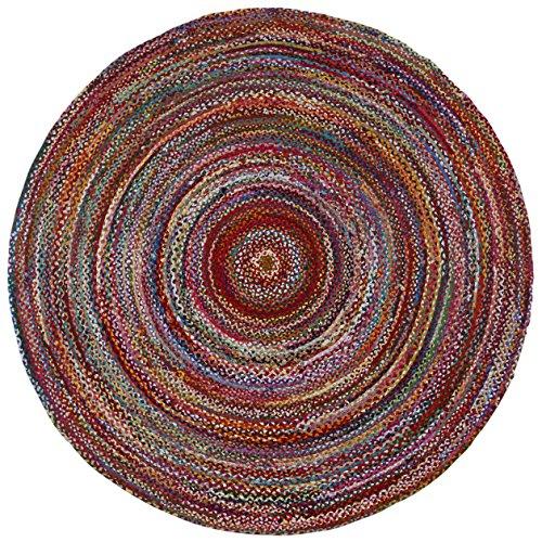 Brilliant Ribbon Multi Colored (3'x3') Round Rug ()