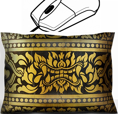 MSD Mouse Wrist Rest Office Decor Wrist Supporter Pillow design 28157760 detail of thai pattern that made by covered wood plate with gold leaf for (Thai Gold Plate)