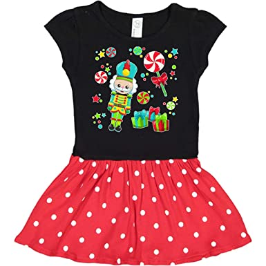 f113a52e5 Amazon.com: inktastic - Holiday Nutcracker and Candy for Christmas Infant  Dress 2dcc5: Clothing