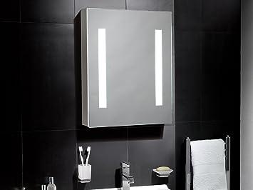 Linden Illuminated LED Cabinet Bathroom Mirror With Lights 500mmW