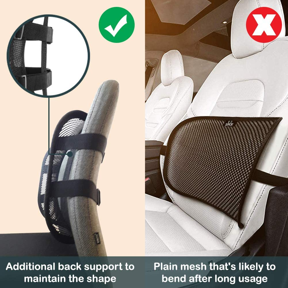 Go Lumbar Support Mesh Back Cushion for Car Seat Desk