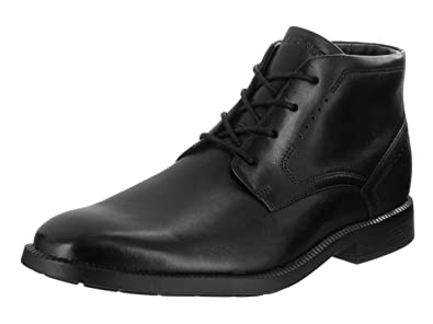 Rockport Men's Dressports Business Chukka Black Leather Boot 7.5 M ...